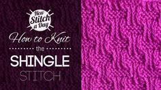 How to Knit the Shingle Stitch