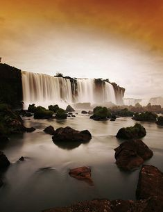 Iguazu Falls, you can see them also from Brasil Places Around The World, Oh The Places You'll Go, Places To Travel, Places To Visit, Around The Worlds, Travel Destinations, Argentine Buenos Aires, Beautiful World, Beautiful Places
