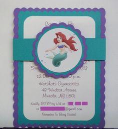 Little Mermaid Birthday Invitations Inspired by The Little Mermaid | Timberlysdesigns - Seasonal on ArtFire
