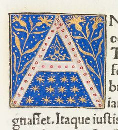 "Decorated initial ""A"" from Scriptores historiae Augustae by University of Glasgow Library, via Flickr"