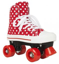 Rookie's iconic plimsoll roller skate with fresh new prints! Combining style and performance, Rookie's new Canvas High model is sure to make you stand out from everyone else! With their retro design and smooth solid wheels, they're nothing short of perfection for your nearest roller disco. So in short, gear up, and literally let the good times roll! Canvas upper, Extra padding, Heel cup support, 54mm PU wheels, Nylon Chassis, 430 Nylon Trucks, Abec 3 Bearings