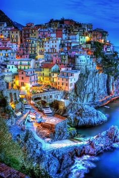 Photo of Manarola, Cinque Terre, Italy. Visual Reference for collection of miniature houses?