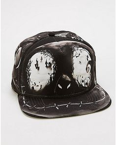 Sublimated Nightmare Before Christmas Snapback Hat - Spencer's