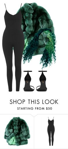 """""""curly, curly, curly."""" by nikkischeper ❤ liked on Polyvore featuring ESCADA, Topshop and Yves Saint Laurent"""