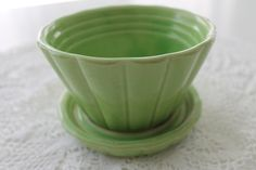 Vintage Shawnee Green Potter Planter Pot Planter by PeggysTrove, $20.00