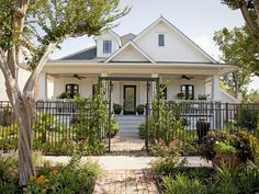 Classy Black and White  - Boost Your Curb Appeal With a Bungalow Look on HGTV