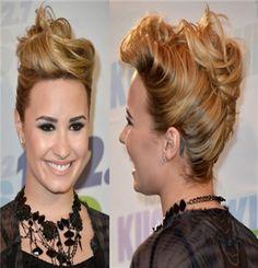 Demi Lovato Hairstyles: French Twist