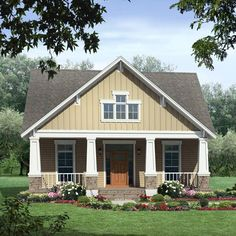 This inviting Craftsman home includes many of the most popular features normally only included in much larger homes.
