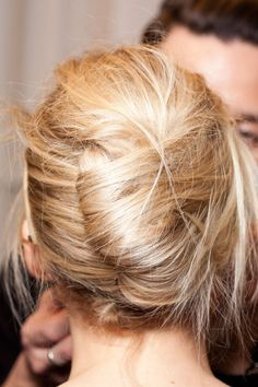 A messy french twist - lovely #hair #inspiration #beauty