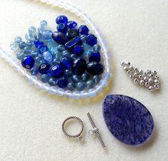 Quartz Blueberry Opalite Gemstone Glass by CatsBeadKitsandMore, $16.99