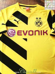 Official Puma Borussia Dortmund home football shirt from the 2014 2015  season. Camisas De aa748eef365