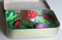 Ladybug felt plush altoid tin play set with by wishwithme on Etsy, $25.00