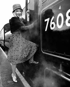 Heading for the Footplate It's the Fabulous Lucy Worsley. Dr Lucy Worsley, Heritage Railway, I Love Lucy, British Style, Historian, Documentaries, Celebs, Norfolk, Style Icons