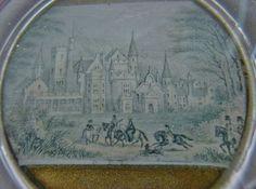 RARE Exquisite INTRICATE miniature WORK of ART Glass PAPERWEIGHT Antique CASTLE   | eBay