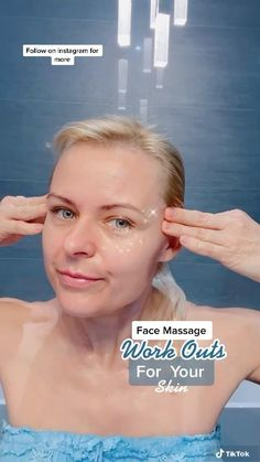 Face Massage, Self Massage, Face Yoga Exercises, Facial Yoga, Beauty Tips For Glowing Skin, Massage Techniques, Face Skin Care, Facial Care, Tips Belleza