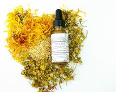 Baby oil for skin issues- Organic Calendula flowers, Chamomile flowers, Rice bran oil and Organic Apricot Kernel oil - 1 oz
