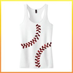 Baseball Laces Juniors 60/40 Racerback Tank by UpwardPromotions, $18.98 #upwardpromo #baseballshirt