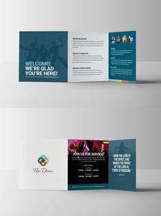 tri fold brochure google search graphic design church