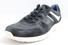 Ecco Schuhe grau Nubuk Leder komfort Wechselfußbett Herren