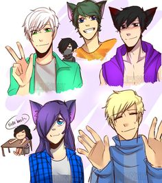 Stream Doodles 2 by jettnight These are soo goood! Aphmau My Street, Aphmau Pictures, Aarmau Fanart, Aphmau Characters, Aphmau Memes, Aphmau And Aaron, Jaiden Animations, Zane Chan, Cute Potato