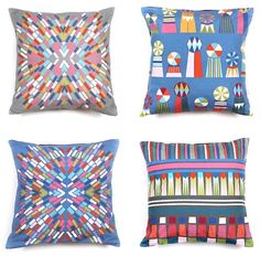 Charlotte Swiden pillows--Swedish graphic design artist who lives in Melbourne