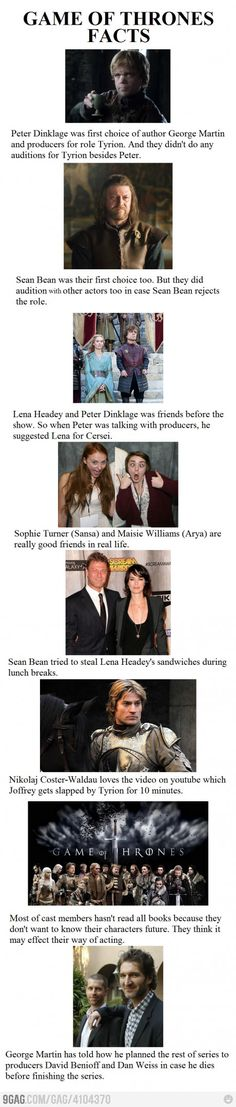 Game of Thrones Facts @Lisa Scott @Hope Hutchins
