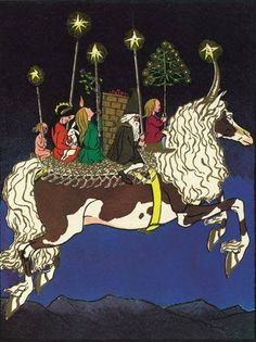 Christmas Capricorn - Ernst Kreidorf (Swiss, 1863-1956). Christmas illustration, 1904