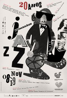 Lovely, animal-based jazz festival posters from designers Atelier Martino&Jaña