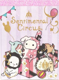 kawaii Sentimental Circus mini Memo Pad by San-X