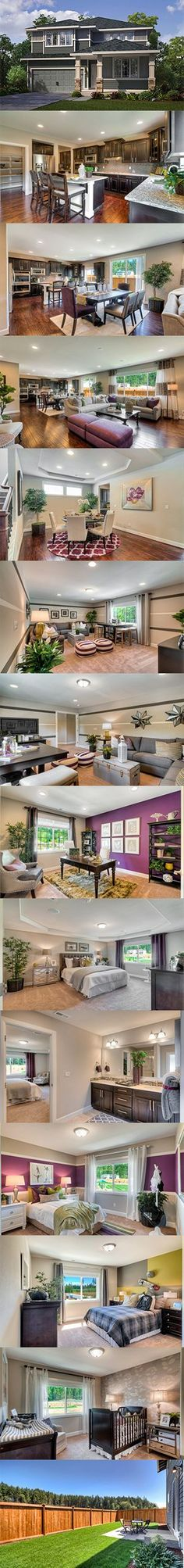 The fact that there's gray and purple in almost every room makes my heart smile😍Luxury features meet beautiful design in the Everson at Harbor Hill from With more than square feet of living space, this home has it all! Beautiful Houses Interior, Beautiful Homes, Space Architecture, New House Plans, My Dream Home, Dream Homes, Dream Mansion, House Goals, Model Homes