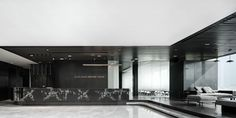 Gallery of Boon Rawd Brewery Headquarters / pbm - 11 Lobby Reception, Office Reception, Marble Carving, Thai Design, Commercial Office Space, Interior Architecture, Interior Design, Wall Desk, Waiting Area