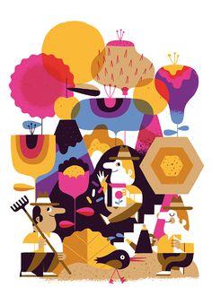 Rick Berkelmans - cakemail #illustration #color