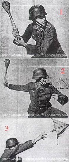 PanzerWurfmine throwing demonstration