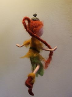 Needle felted Fairy Waldorf inspired Wool forest fairy Elf
