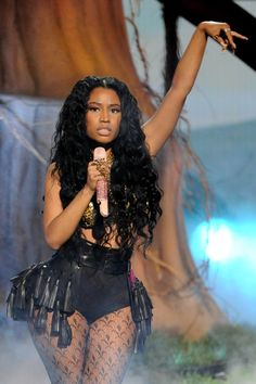 """Nicki Minaj pops more than """"Pills N Potions"""" during a sultry performance on the 2014 BET Awards on June 29 in Los Angeles"""