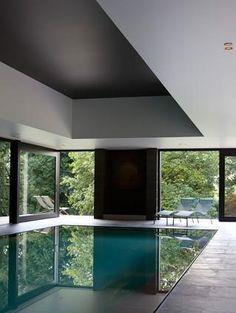 Minimal indoor pool inside the Villa S_ Kruishoutem in Belgium _