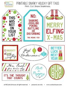 The best do it yourself gifts fun clever and unique diy craft snarky christmas gift tags funny holiday gift tags printable gift tags christmas printable tags gift wrap under 5 holiday gift tagsdiy solutioingenieria Choice Image
