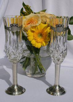 Claddagh Crystal Glasses