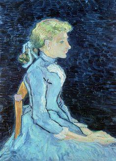 Vincent van Gogh - Portrait of Adeline Ravoux, 1890 Vincent Van Gogh, Art Van, Rembrandt, Van Gogh Arte, Van Gogh Portraits, Van Gogh Paintings, Poster Prints, Art Prints, Dutch Painters