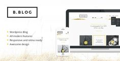 B-Blog: #Wordpress #Responsive Template - #html5 #css3 #jquery slider ready Photography Creative