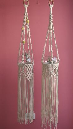 ouch flower: :: Hanging Gardens of Ouch Flower Macrame Art, Macrame Projects, Macrame Knots, Micro Macrame, Macrame Plant Hanger Patterns, Macrame Plant Holder, Macrame Patterns, Hanging Planters, Hanging Baskets