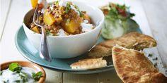 Boodschappen - Pompoencurry met linzen, yoghurt en munt