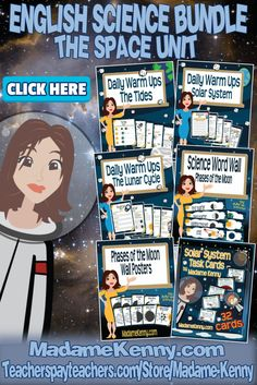 Our latest product is a Middle School Space Unit Science bundle set and is ready to print and go. This bundle includes 6 of our best selling Earth Science Space Unit products. For more information about our latest print and go product click...  https://www.teacherspayteachers.com/Product/Middle-School-Space-Unit-Science-Bundle-2920193
