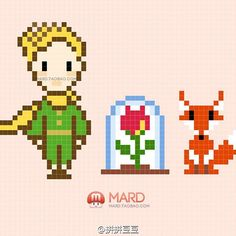 The Little Prince perler bead pattern  by mard_bead