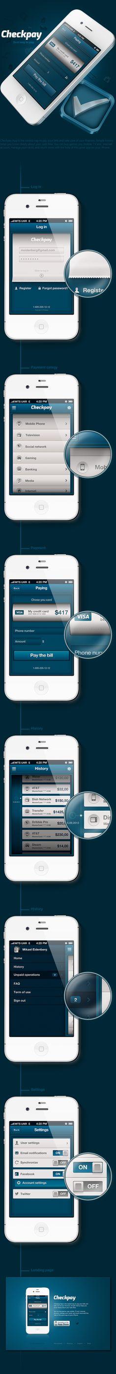 Checkpay App by BLASTAROCKS, via Behance