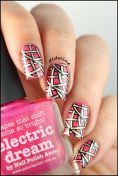 Picture Polish - Electric Dream and Reverse Stamping with Infinity's Nails Nails ~ Didoline