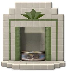 Fireplace Hearths in Square Plain Glazed Tiles | Fireplace Tiles