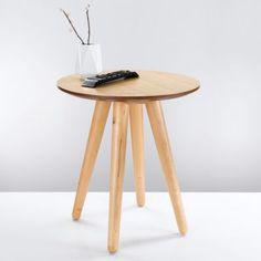 Table basse ronde / bout de canapé PIN'S - Naturel- Vue 1