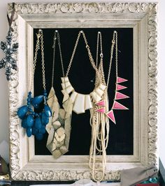 Style Tip: Step up your everyday style by displaying necklaces out in the open where they are easily accessible!  |  STYLE'N