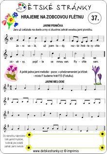 Škola hry na zobcovou flétnu zdarma - LEKCE 37. Sheet Music, Music Sheets